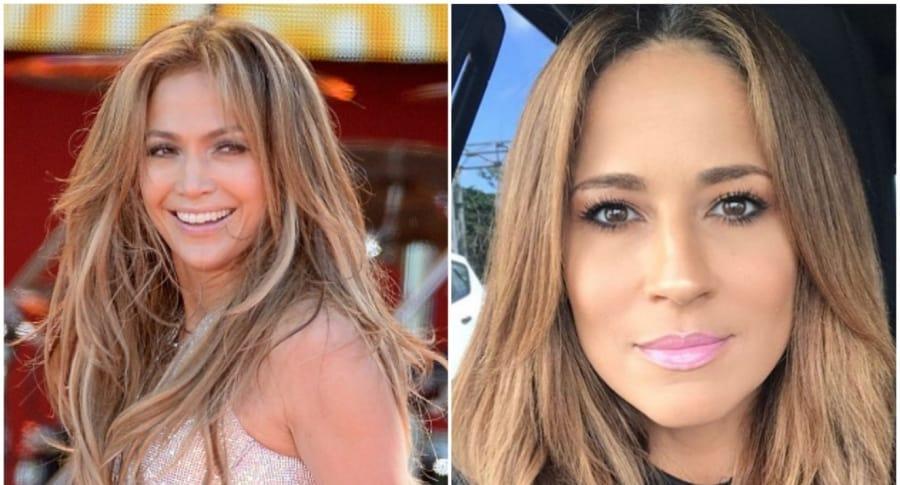 Jennifer Lopez y Jackie Guerrido, presentadora que se parece a ella, según sus seguidores. Pulzo.