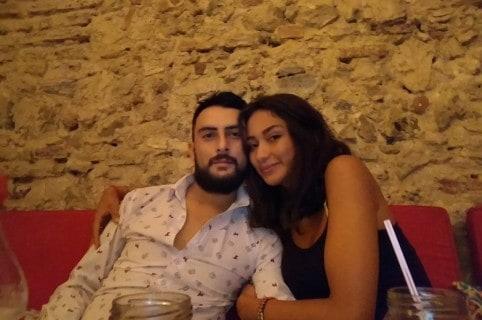 Rugeles y su pareja Marcela González Olaya