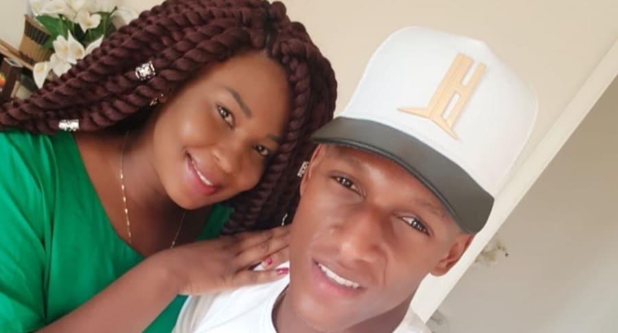 Yerry Mina y su esposa