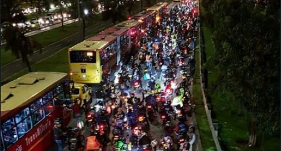 Protestas de motociclistas en Bogotá