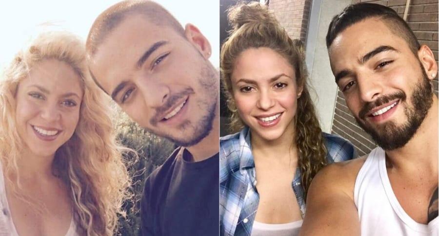 Shakira y Maluma, cantantes.