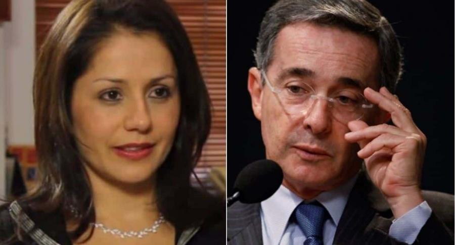 Claudia Morales y Álvaro Uribe