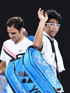 Hyeon Chung y Roger Federer