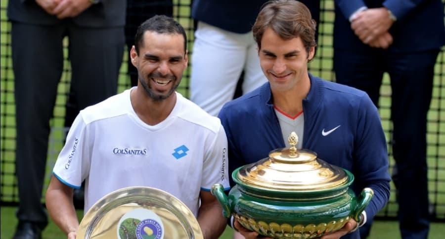 Alejandro Falla y Roger Federer
