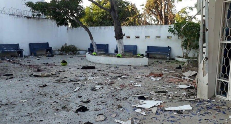 Explosión en estación de policía en Barranquilla