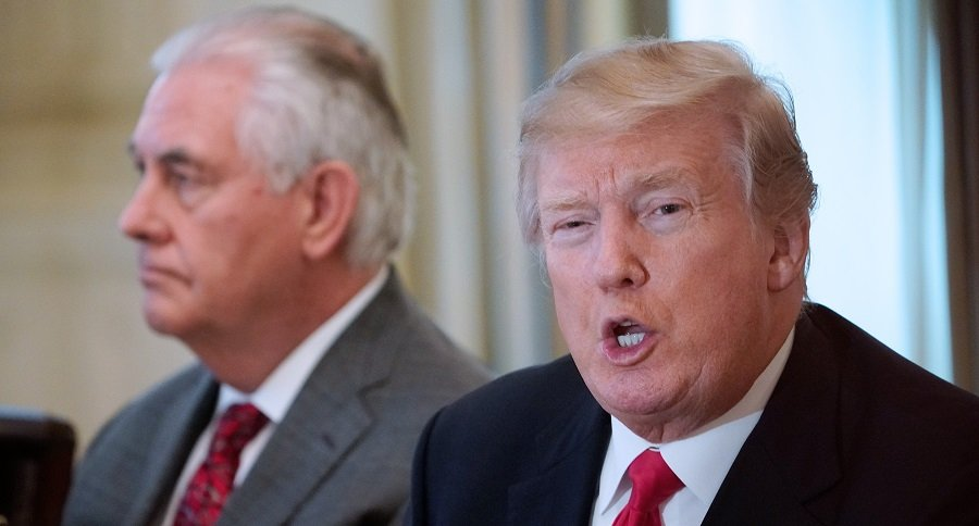 Red Tillerson y Donald Trump