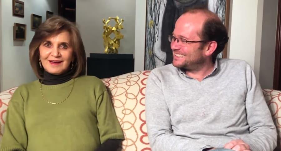 Daniel Samper y su mamá