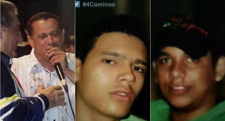 Roberto Calderón, cantautor, y los jóvenes Roberto Machado y Jorge Prada (Q.E.P.D)1