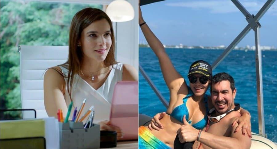 Adriana Silva, actriz y exprotagonista de novela, y su pareja Andrés Felipe Muñoz.