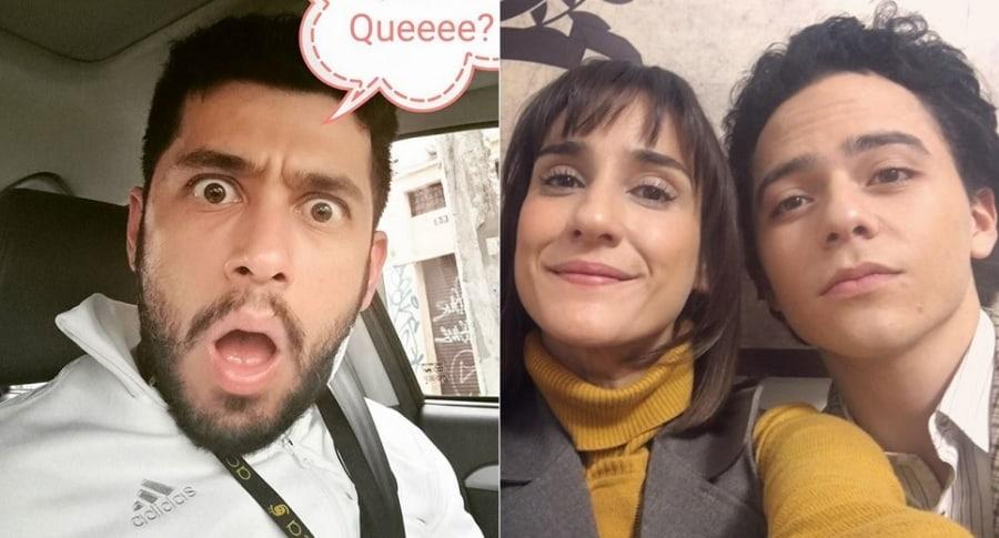 Santiago Alarcón, 'Chichila' Navia y Sebastián Gutiérrez, actores.
