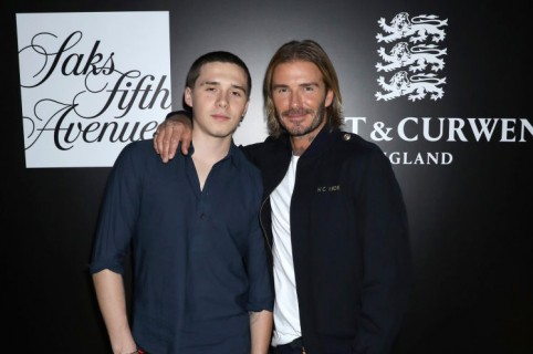 Brooklyn Beckham y David Beckham
