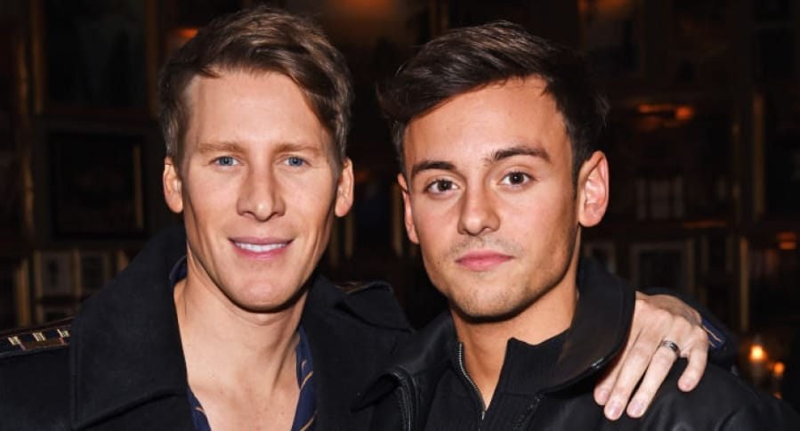 Dustin Lance Black y Tom Daley