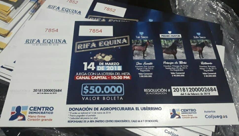 rifa de caballos de Uribe