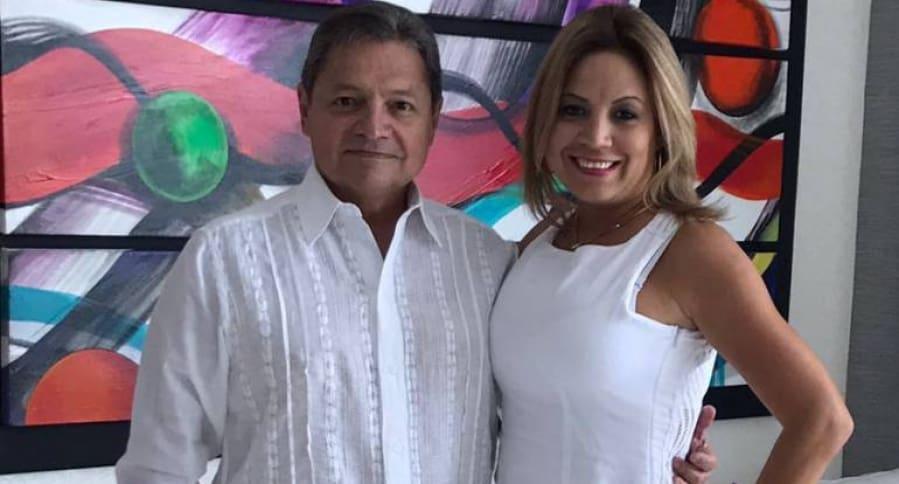 Concejal Rubén Marino y su esposa Clara Inés Acosta