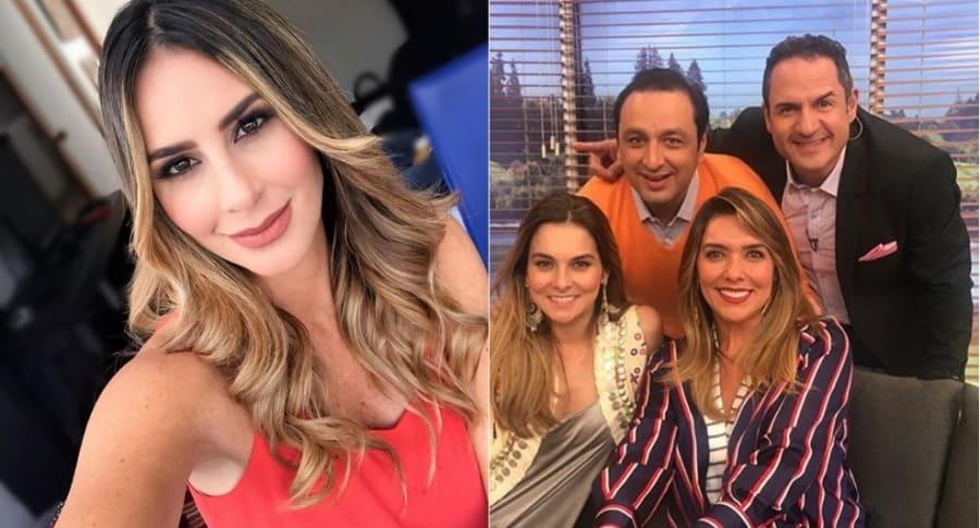 Carolina Soto, Catalina Gómez, Mónica Rodríguez, Jorge Alfredo Vargas y Mauricio Vélez, presentadora.