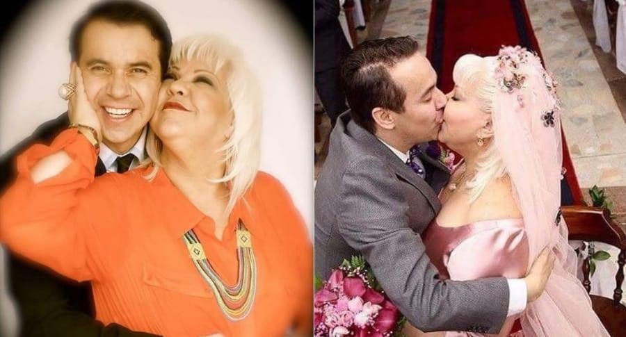 Nelson Polanía, 'Polilla', y Fabiola Posada, 'la Gorda Fabiola', humoristas y esposos.