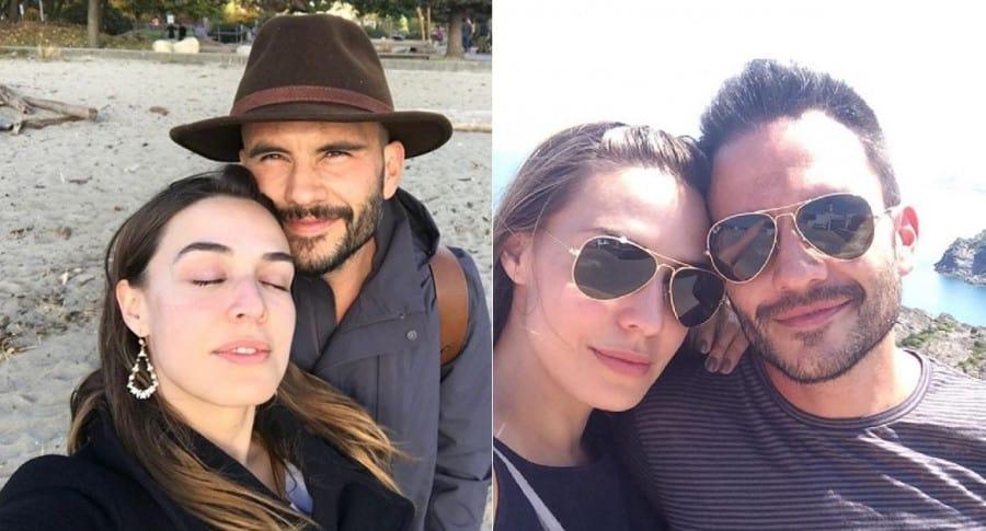Mónica Fonseca, presentadora, con su esposo Juan Pablo Raba, actor.