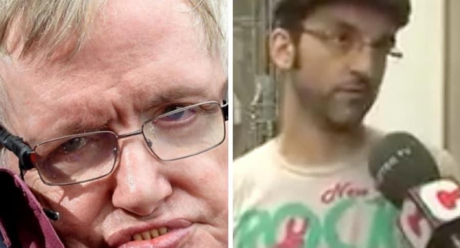 Stephen Hawking y hombre viral