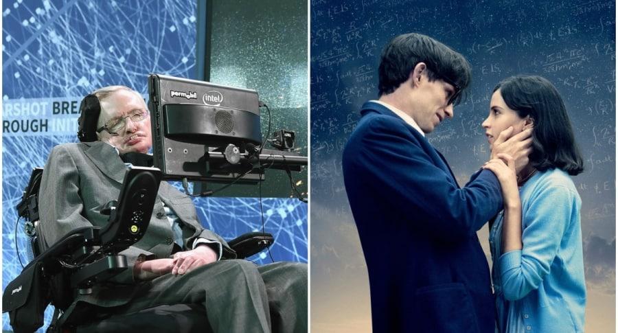 Stephen Hawking / Afiche de 'La teoría del todo