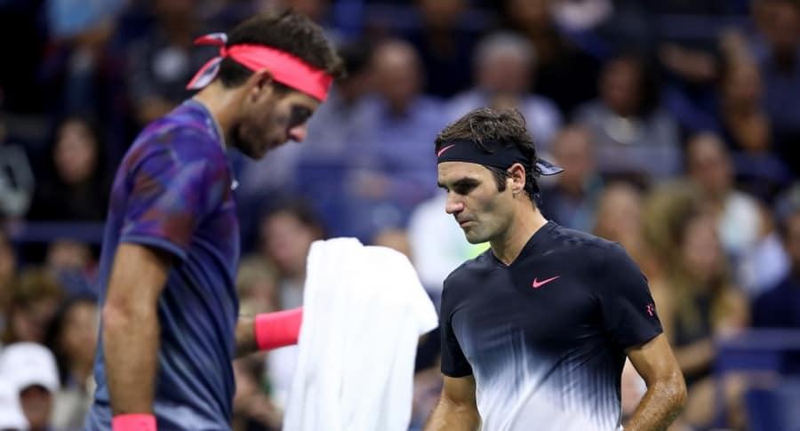 Juan Martin del Potro y Roger Federer