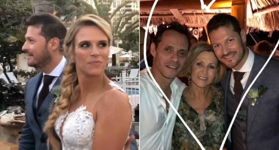 El cantante Marc Anthony acompañó a la modelo Catalina Maya en su boda con Felipe Pimiento.