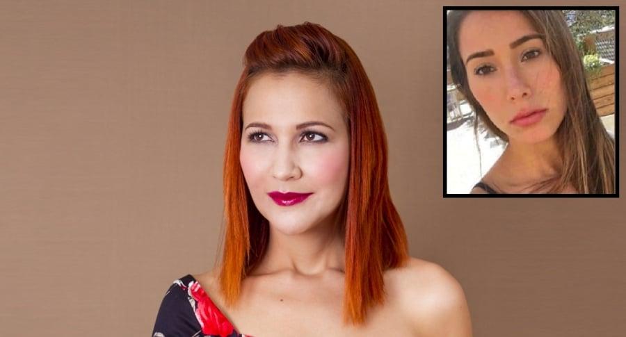 Johana Cano, diseñadora, y María Andrea Cabrera (Q.E.P.D.)