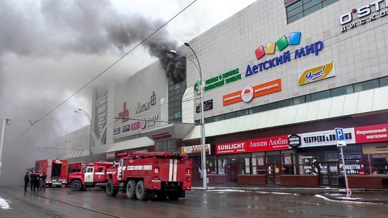 Centro comercial incendiado en Rusia