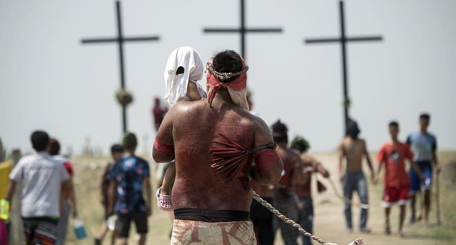 Celebración viernes santo en Filipinas