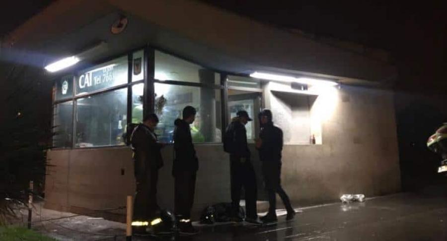 CAI de Policía La Joya después del atentado