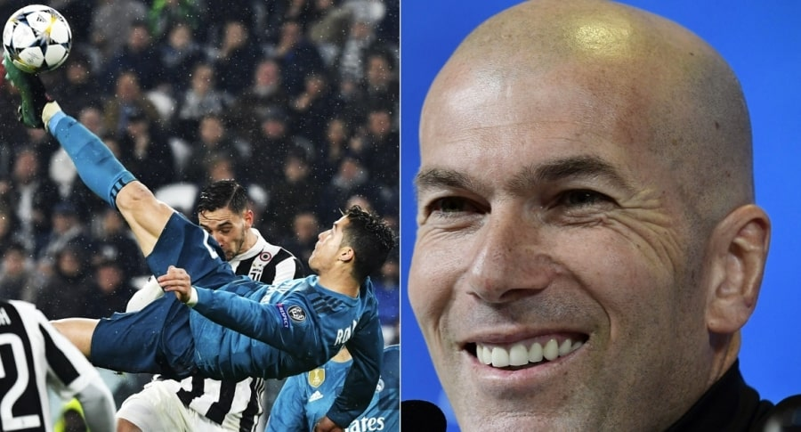 Cristiano Ronaldo y Zinedane Zidane