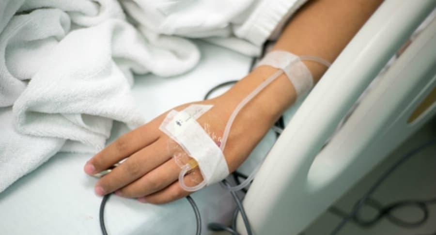 Joven hospitalizada.
