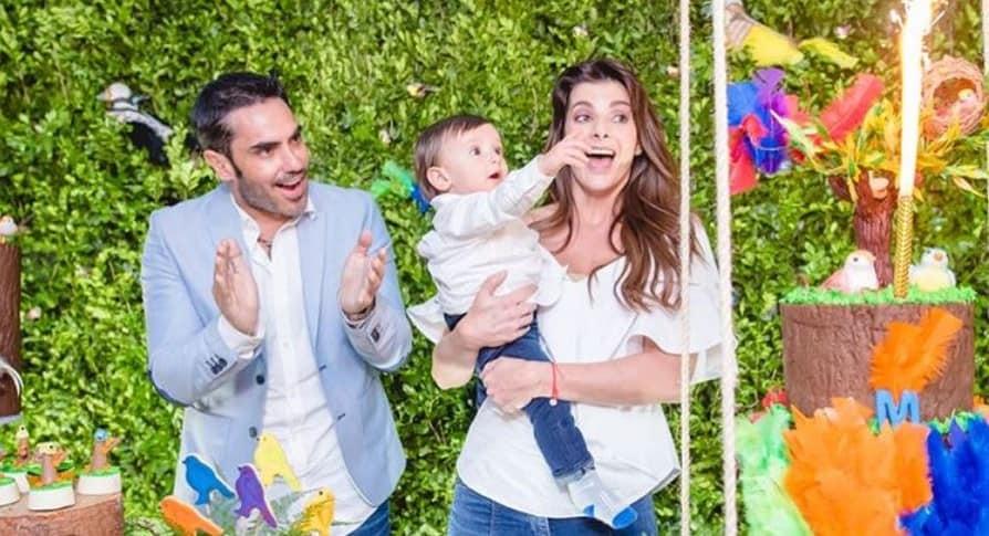 Fiesta de Matías, hijo de Carolina Cruz y Lincoln Palomeque