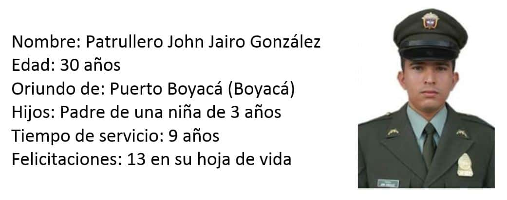 Patrullero John Jairo González