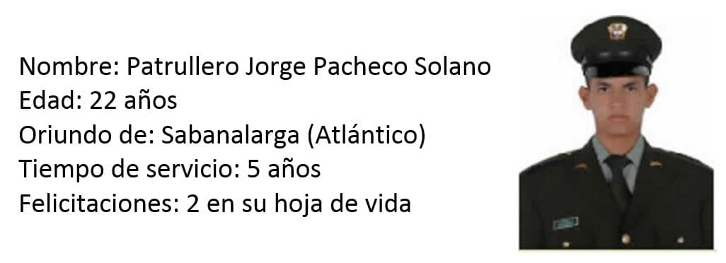 Patrullero Jorge Pacheco Solano