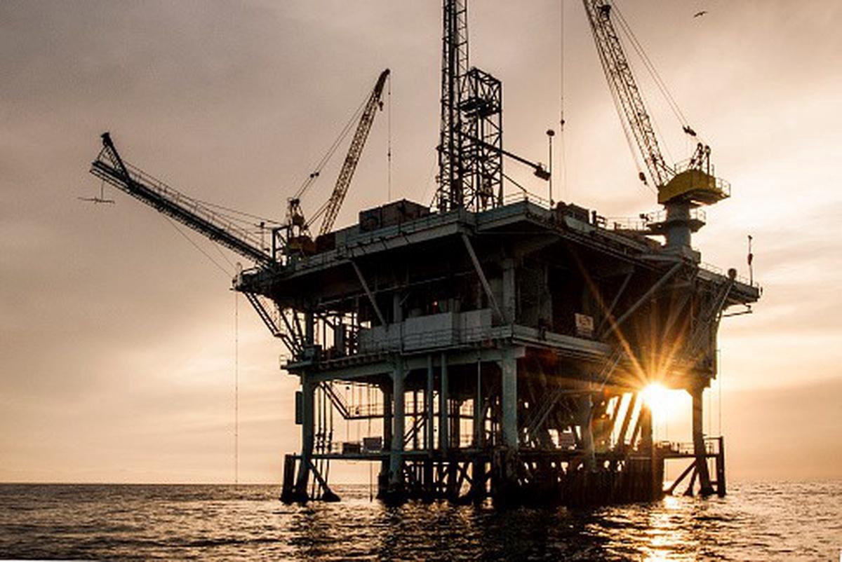 Explotación de petróleo en el mar