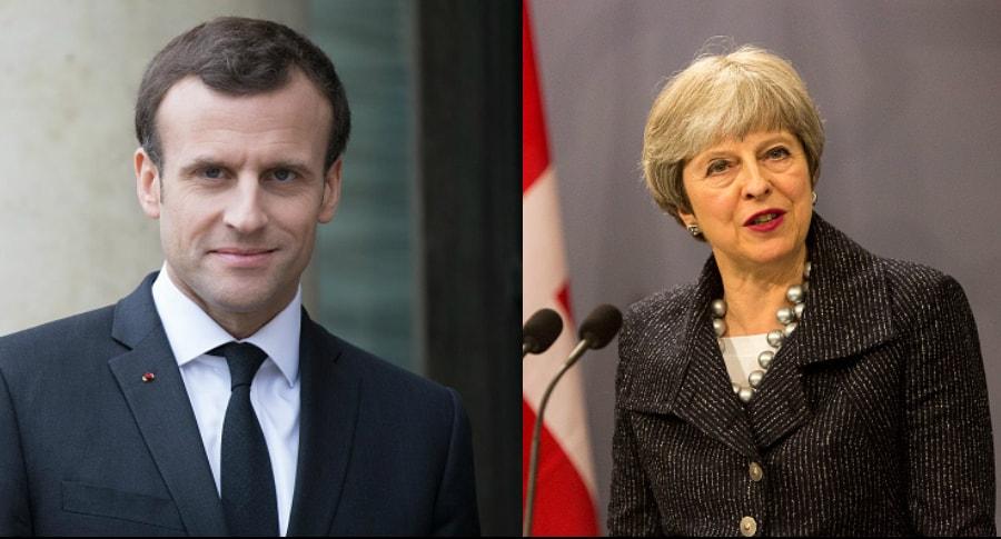 Macron y May