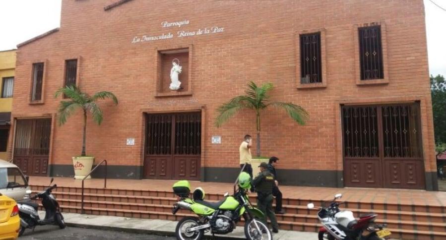 Robo en iglesia en Medellín