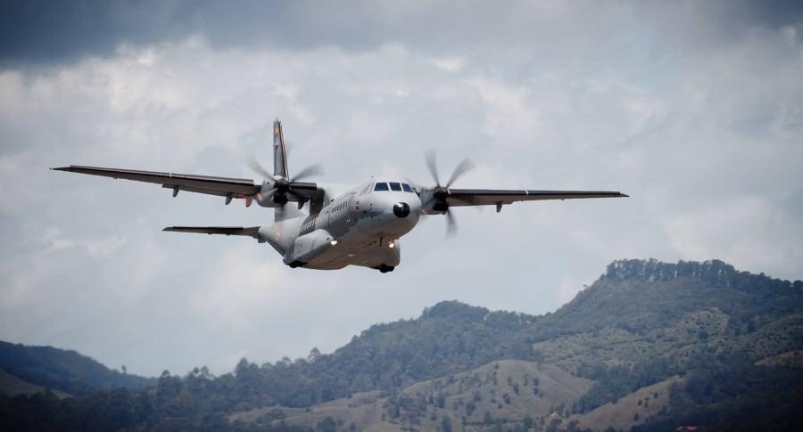 Avión de la Fuerza Aérea Colombiana.