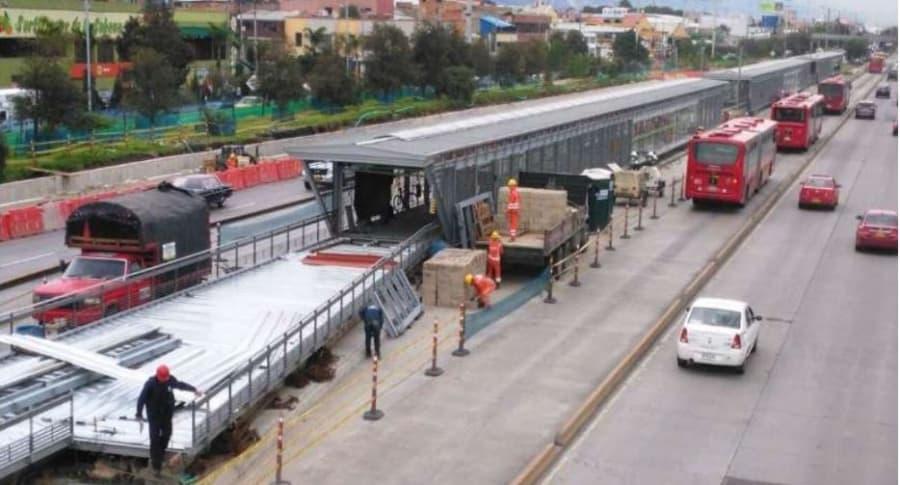 Ampliación de estaciones de Transmilenio en Bogotá