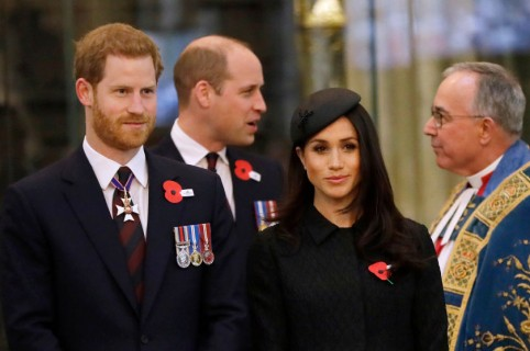 Príncipe Harry, príncipe William y Meghan Markle