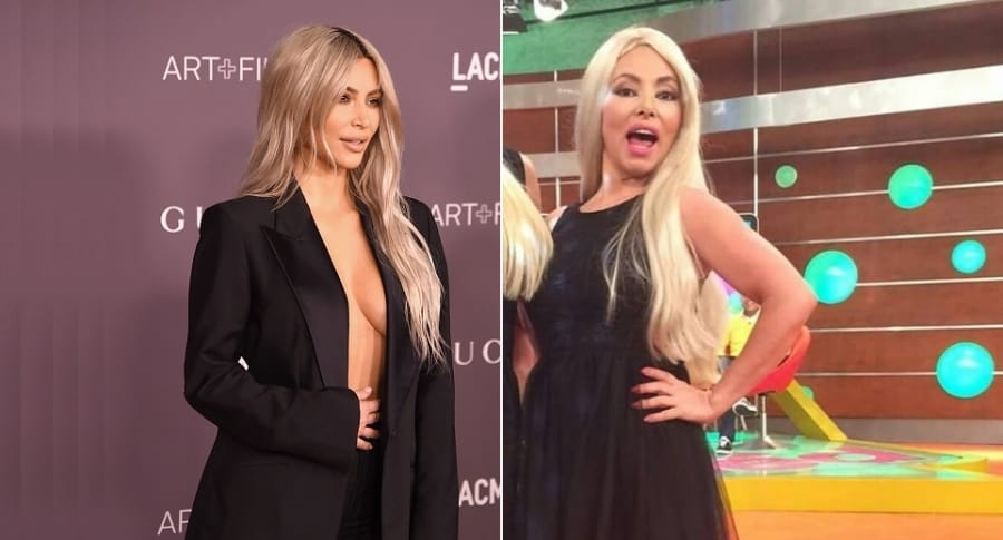 Kim Kardashian, empresaria, y María Auxilio Vélez, humorista.