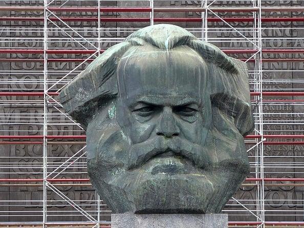 Busto de Karl Marx en  Chemnitz, Alemania