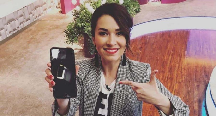 Laura González, presentadora.