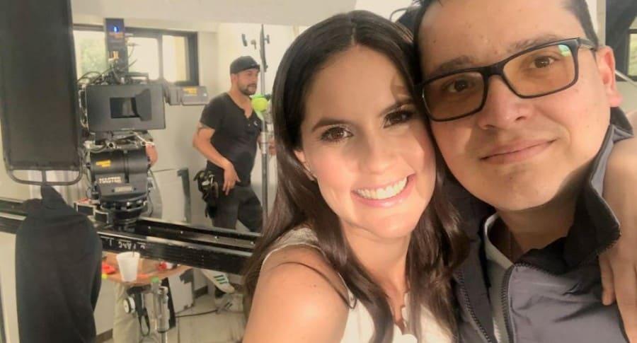 Linda Palma, presentadora, y Diego Pulecio, cantante.