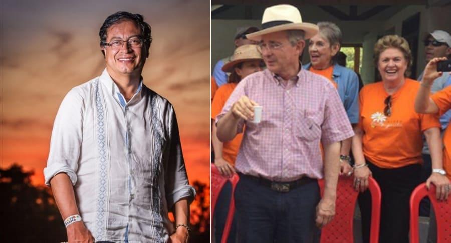 Petro y Uribe