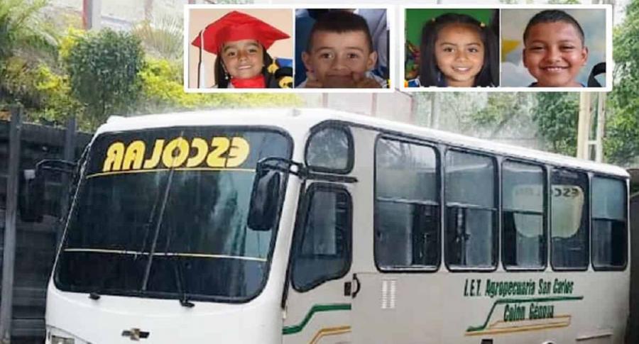 ¡Dolor en Nariño! Cuatro niños murieron en insólito accidente de bus escolar - Pulzo.com