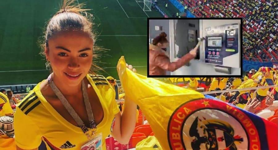 'Epa Colombia' destrozó estaciones de TM (con su novia al lado) y ...