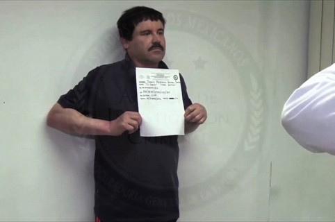 "Video grab released on January 27, 2016 by Mexican General Attorney office, showing Mexican drug kingpin Joaquin ""El Chapo"" Guzman in Altiplano maximum security federal prison in Almoloya de Juarez, State of Mexico. Mexican marines recaptured fugitive ""El Chapo"" Guzman on January 8 in the northwest of the country, six months after his spectacular prison break embarrassed authorities.  AFP PHOTO/PGR - RESTRICTED TO EDITORIAL USE-MADNATORY CREDIT AFP PHOTO / MEXICAN ATTORNEY GENERAL  -NO MARKETING, NO ADVERTISING CAMPAIGNS-DISTRIBUTED AS A SERVICE TO CLIENTS-BEST QUALITY AVAILABLE-GETTY OUT / AFP / ATTORNEY GENERAL OFFICE / PGR"