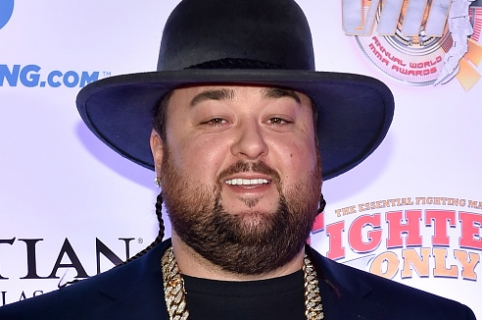 "LAS VEGAS, NV - FEBRUARY 05:  Austin ""Chumlee"" Russell from History's ""Pawn Stars"" television series arrives at the eighth annual Fighters Only World Mixed Martial Arts Awards at The Palazzo Las Vegas on February 5, 2016 in Las Vegas, Nevada.  (Photo by David Becker/WireImage)"