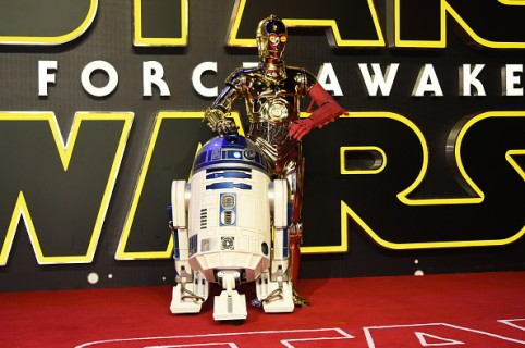 """attends the European Premiere of """"Star Wars: The Force Awakens"""" in Leicester Square on December 16, 2015 in London, England."""